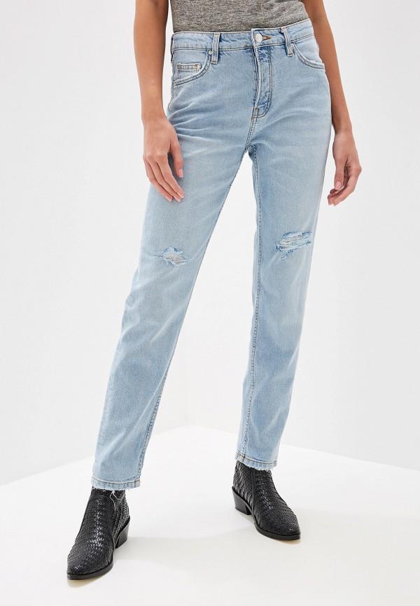 женские джинсы бойфренд mango, голубые