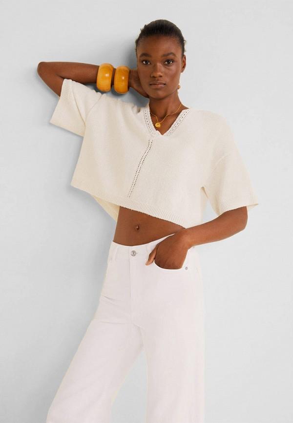 Фото - Женский пуловер Mango белого цвета
