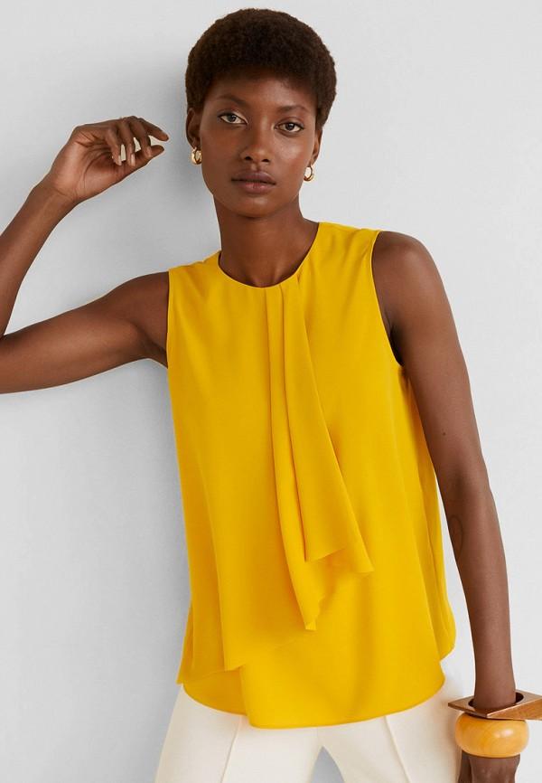 Фото - Женскую блузку Mango желтого цвета