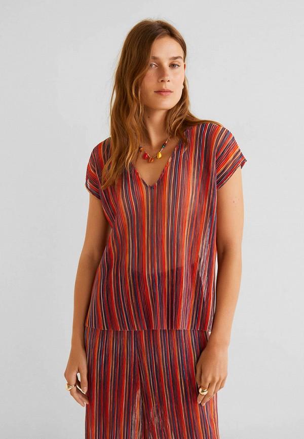 Фото - Женскую блузку Mango разноцветного цвета