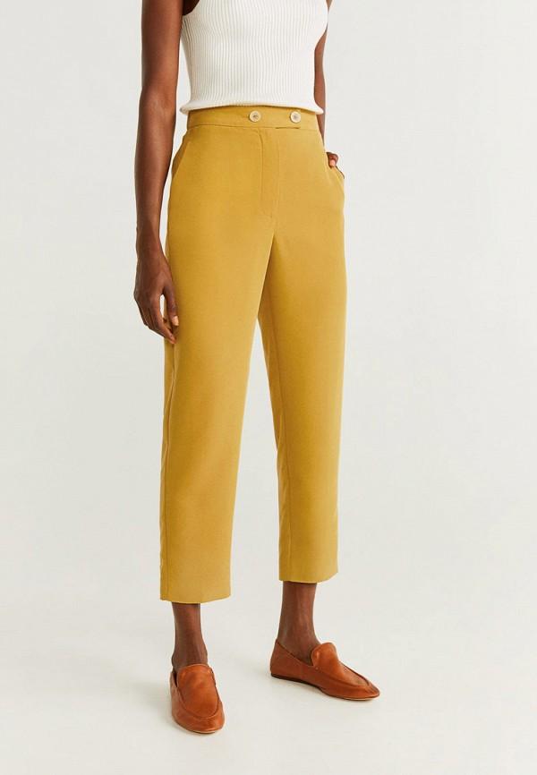 Фото - женские брюки Mango желтого цвета