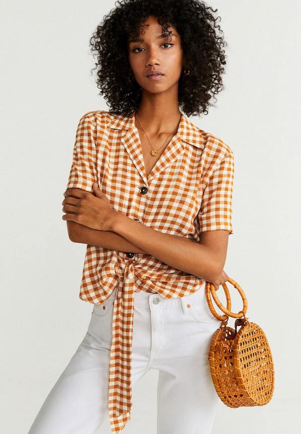 Фото - женскую рубашку Mango коричневого цвета
