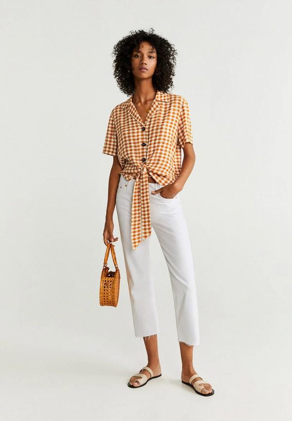 Фото 2 - женскую рубашку Mango коричневого цвета