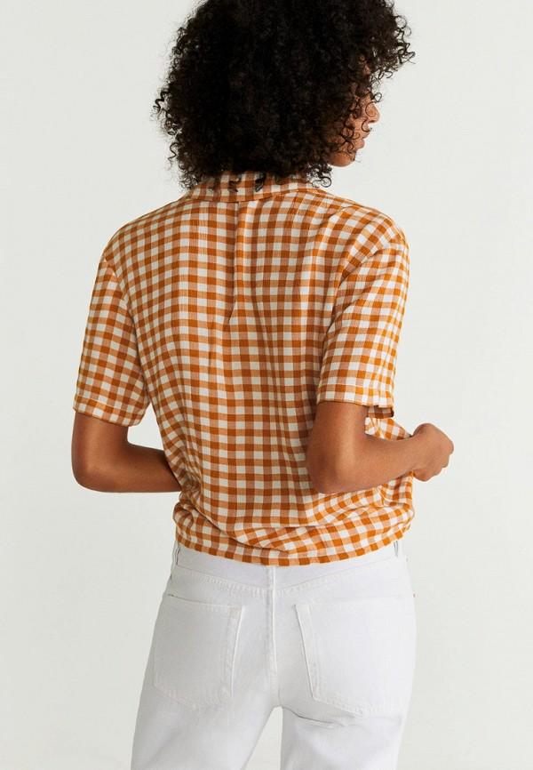 Фото 3 - женскую рубашку Mango коричневого цвета