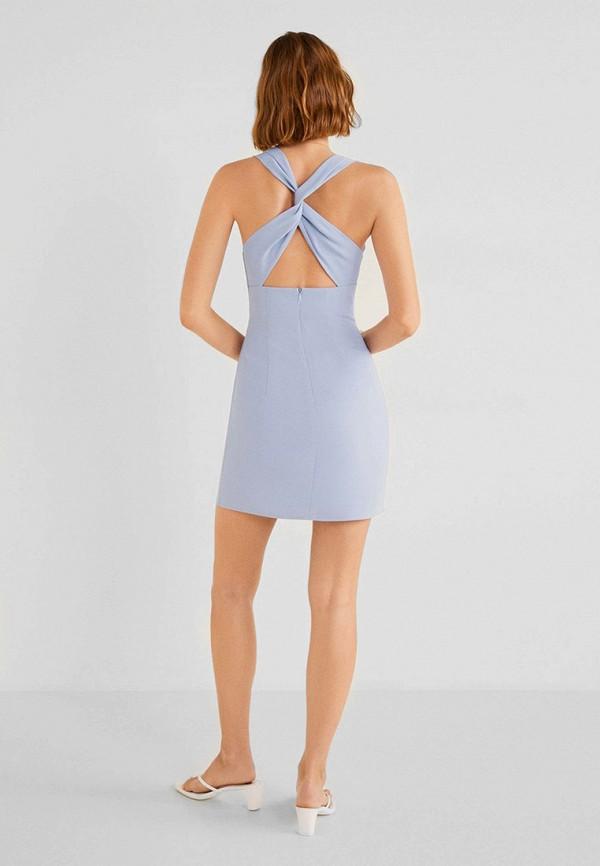 Фото 3 - женское платье Mango голубого цвета