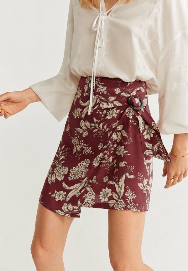Фото - женскую юбку Mango бордового цвета