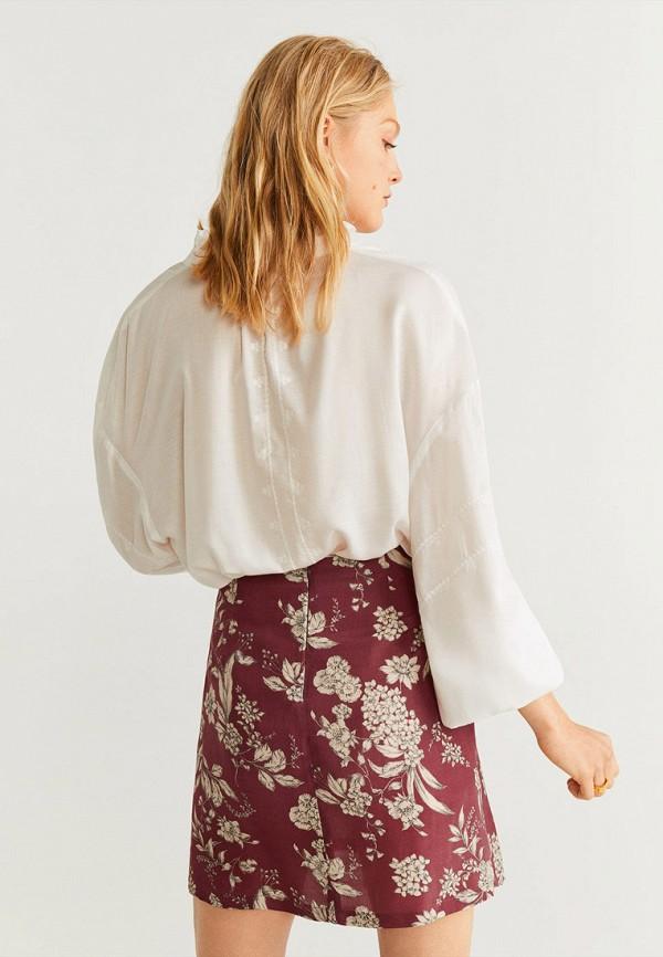 Фото 3 - женскую юбку Mango бордового цвета