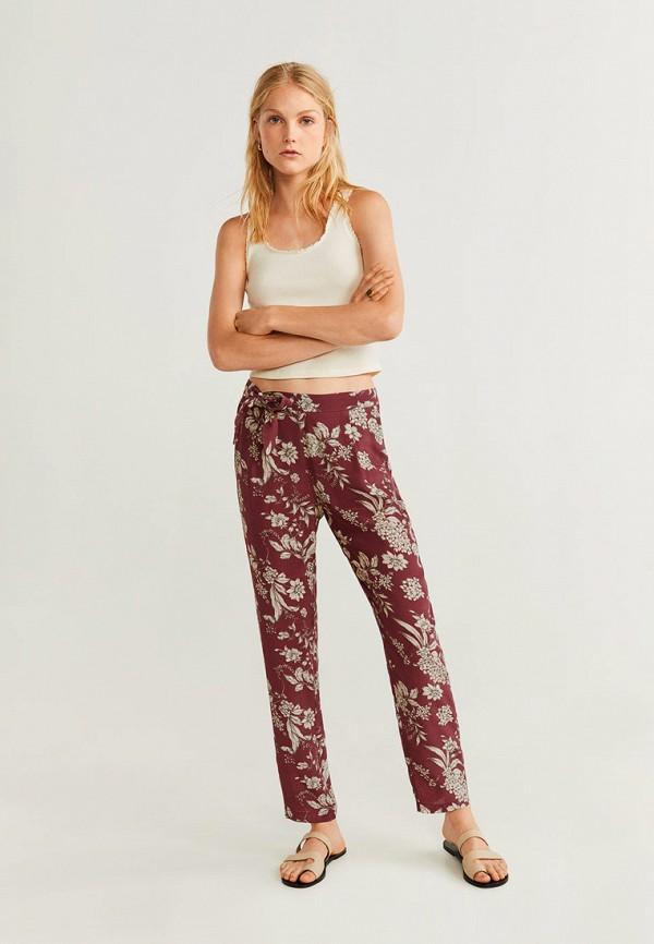 Фото 2 - женские брюки Mango бордового цвета