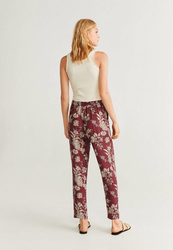 Фото 3 - женские брюки Mango бордового цвета
