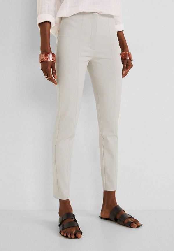 Фото - женские брюки Mango серого цвета