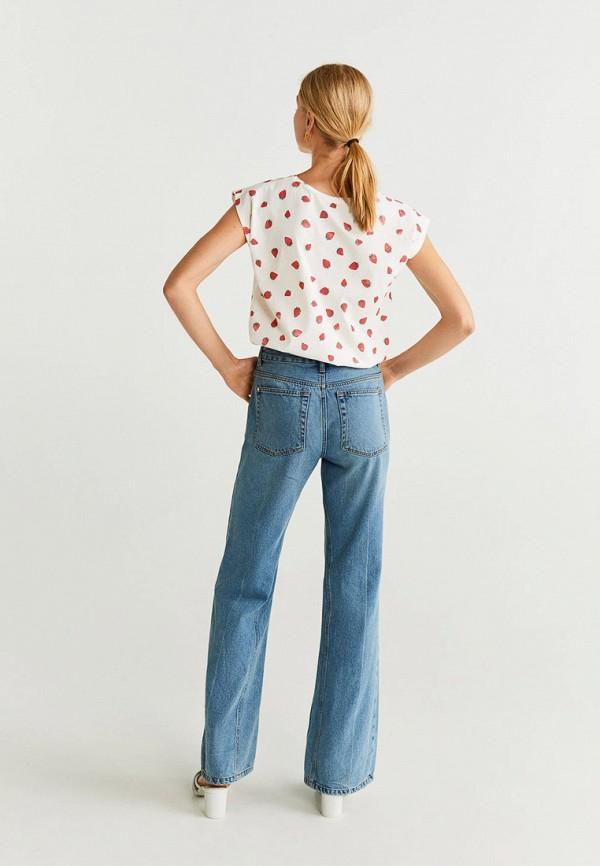 Фото 3 - женскую футболку Mango белого цвета
