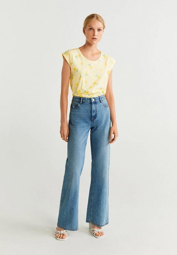 Фото 2 - женскую футболку Mango желтого цвета