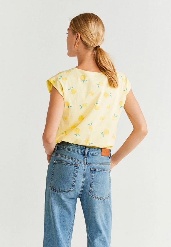 Фото 3 - женскую футболку Mango желтого цвета