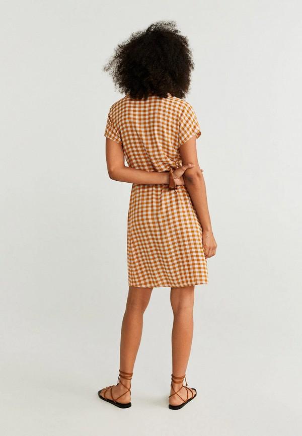 Фото 3 - женское платье Mango оранжевого цвета
