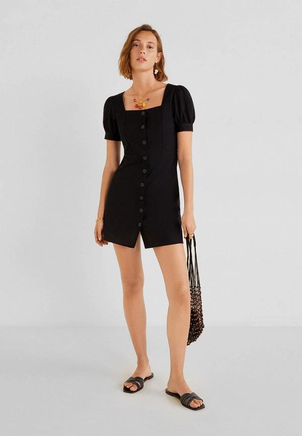 Фото 2 - женское платье Mango черного цвета