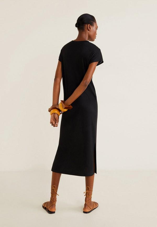 Фото 3 - женское платье Mango черного цвета