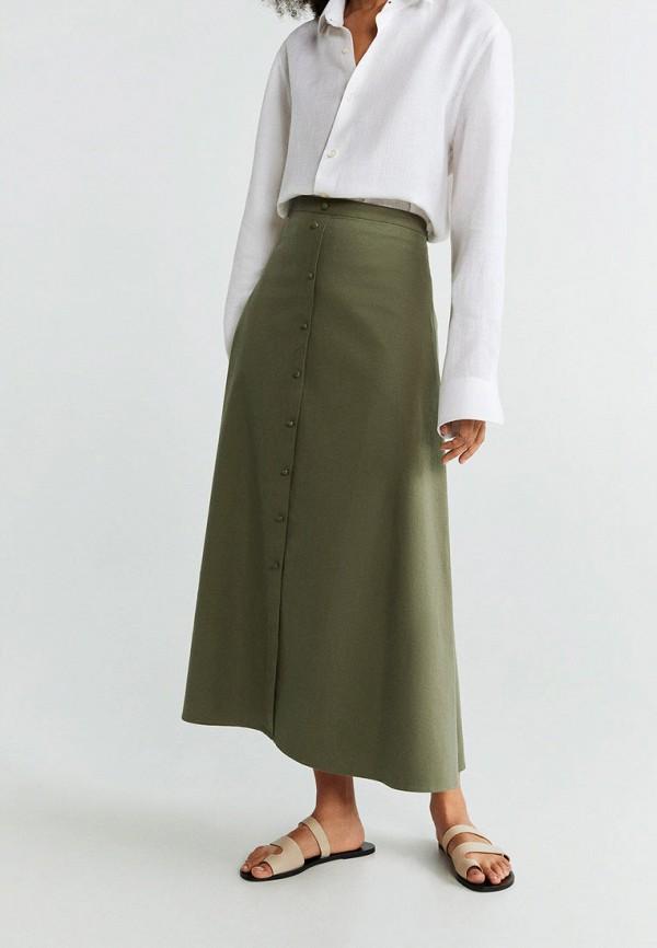 женская юбка mango, хаки