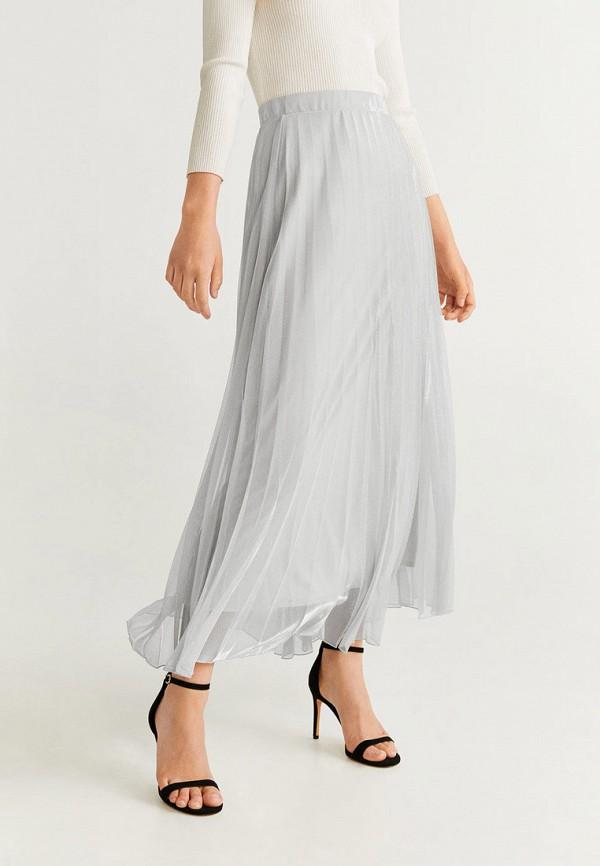 женская юбка mango, серая