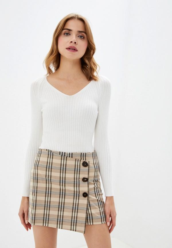 женский пуловер mango, белый