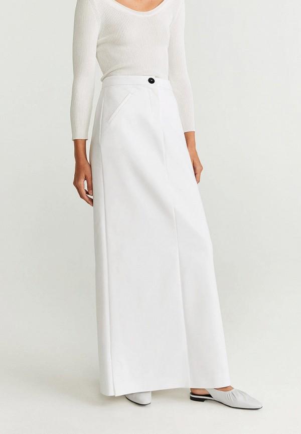 женская прямые юбка mango, белая