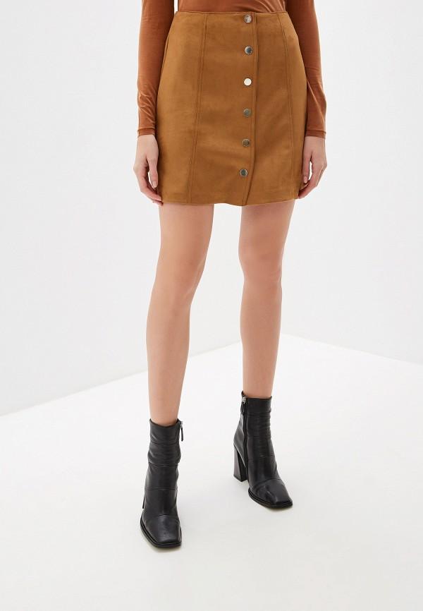 женская юбка mango, коричневая