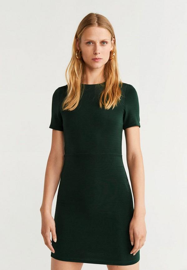 Фото - женское платье Mango зеленого цвета
