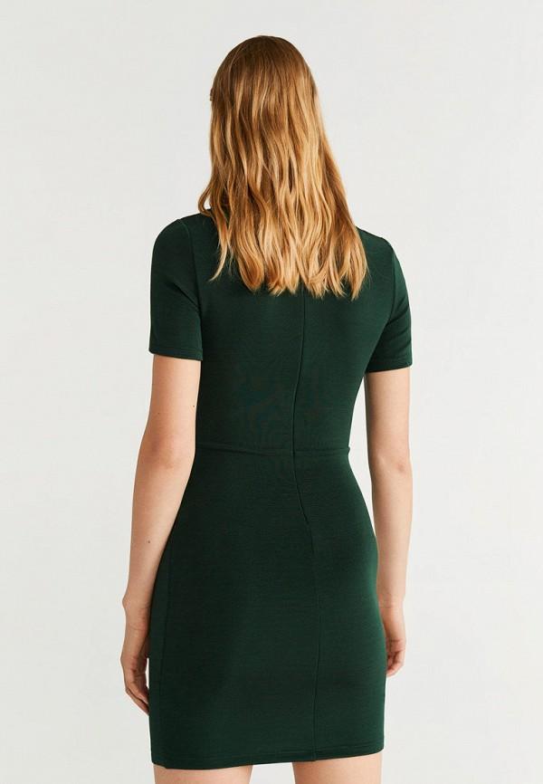 Фото 3 - женское платье Mango зеленого цвета