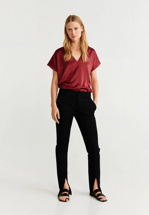 Фото 2 - женскую футболку Mango бордового цвета