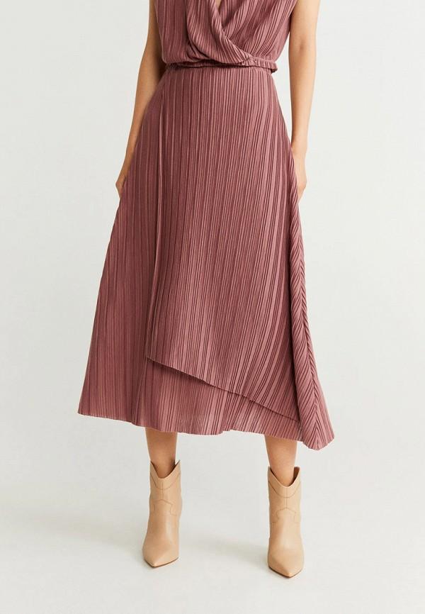женская юбка mango, розовая