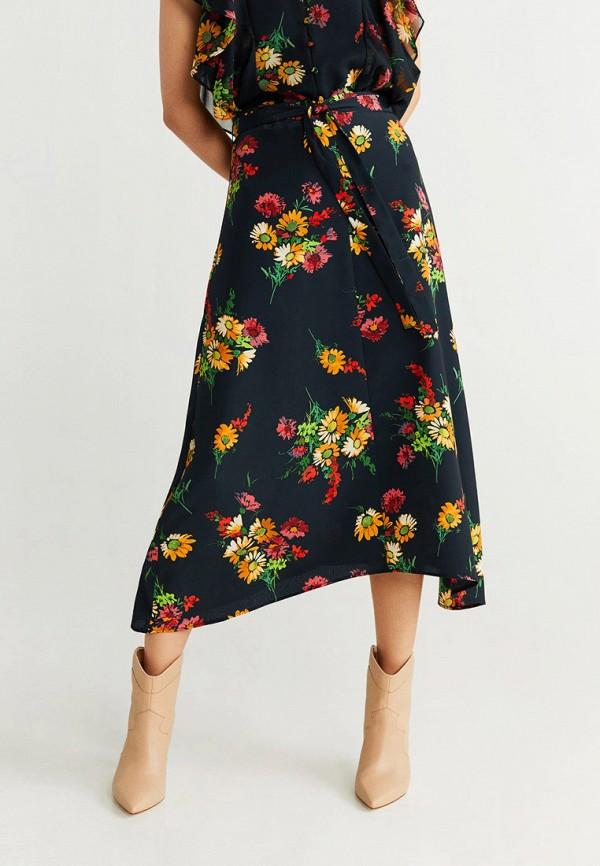 женская юбка mango, синяя