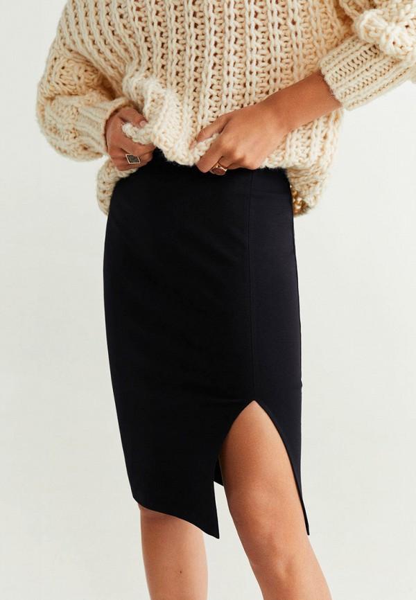женская зауженные юбка mango, черная