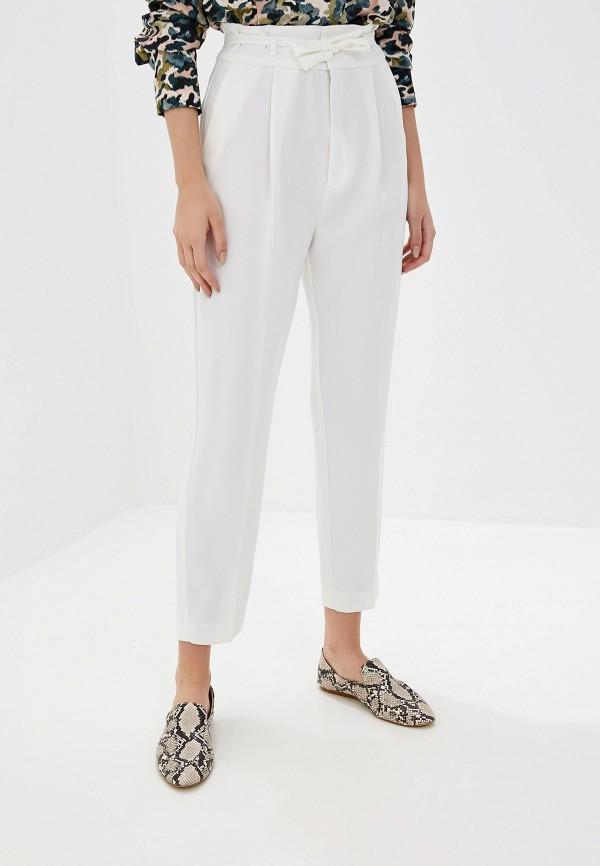 женские классические брюки mango, белые