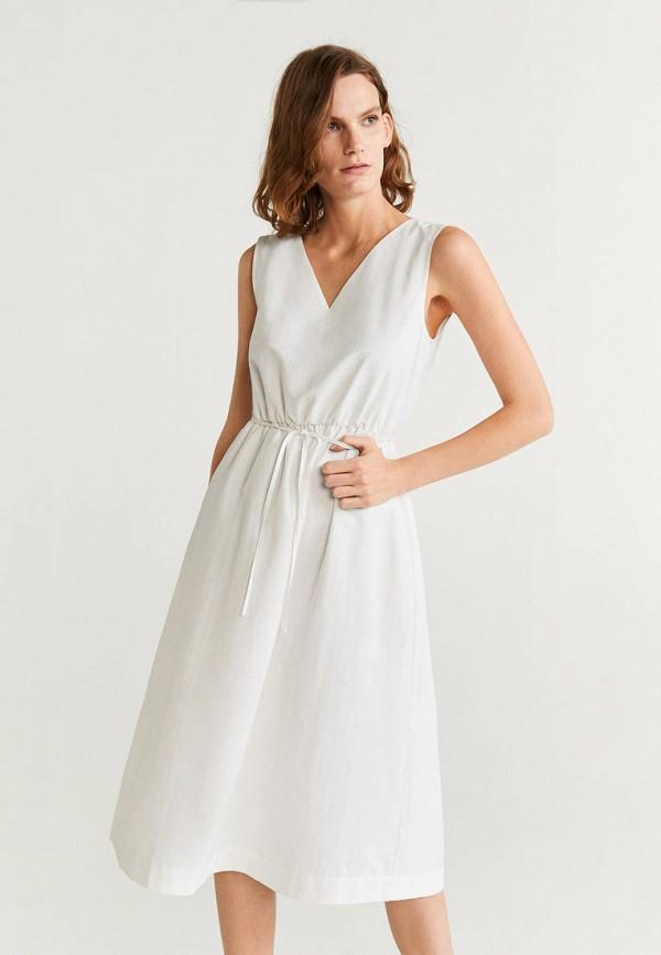 женское повседневные платье mango, белое
