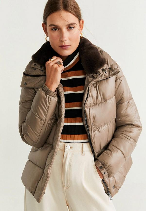 женская куртка mango, бежевая