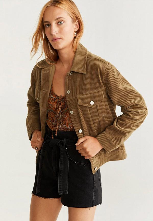 женская куртка mango, коричневая
