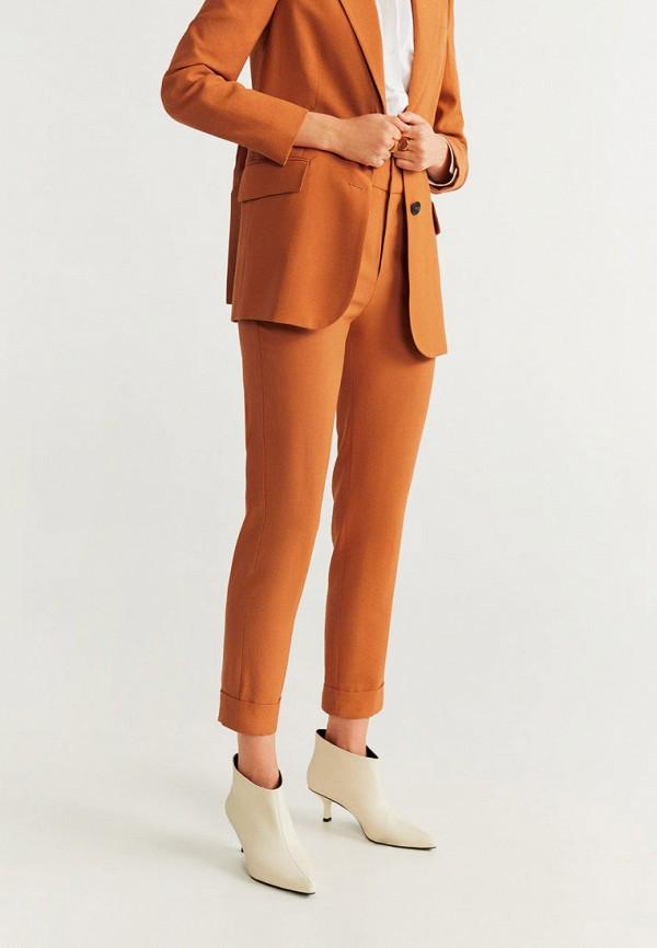 женские повседневные брюки mango, оранжевые