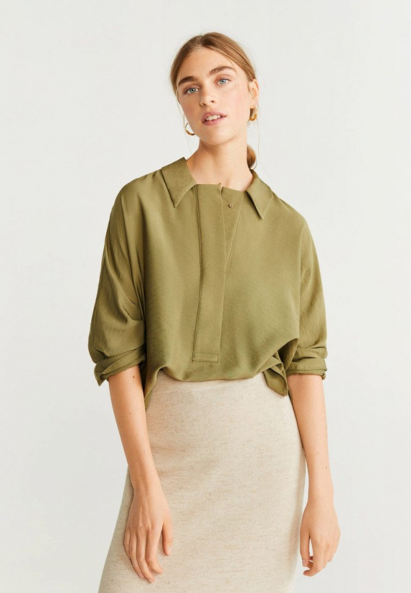 женская блузка mango, хаки