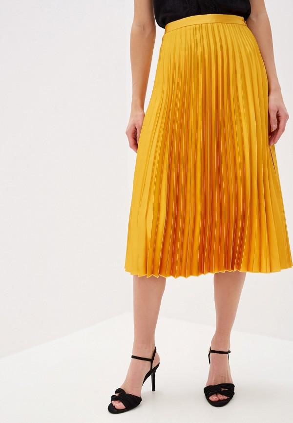 женская юбка mango, желтая