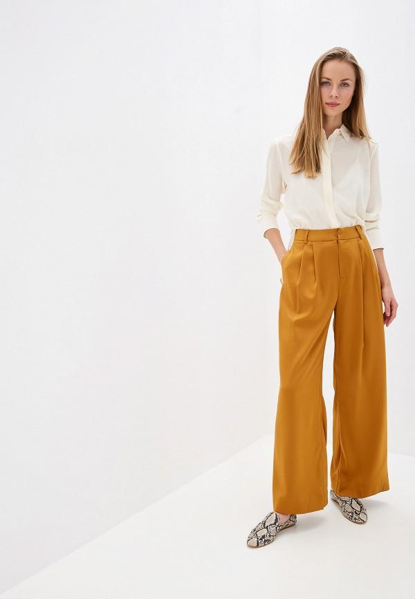 Фото 2 - женские брюки Mango коричневого цвета