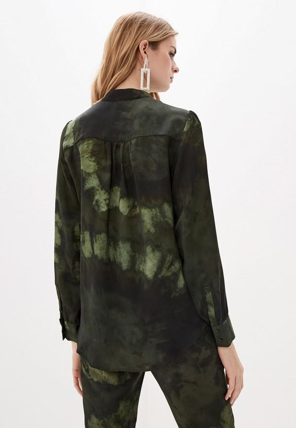 Фото 3 - женскую блузку Mango цвета хаки