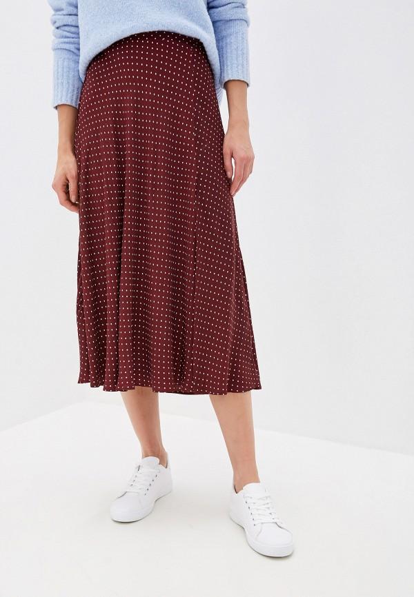 женская юбка mango, бордовая