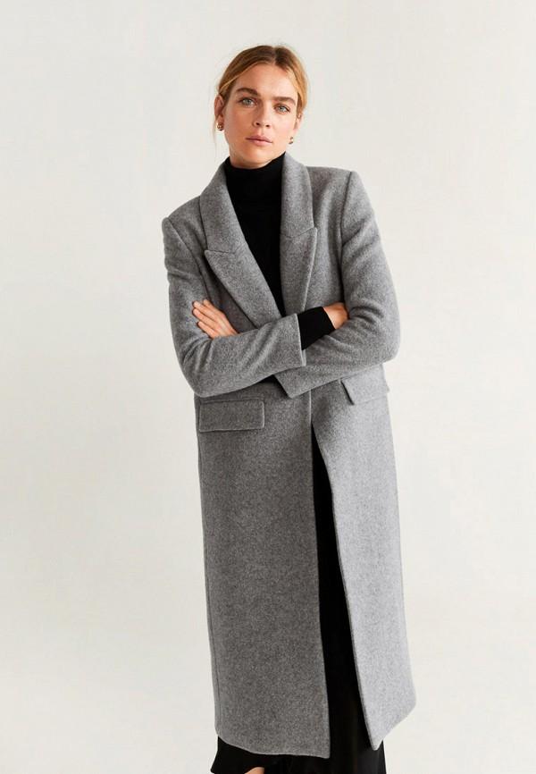 Фото - женское пальто или плащ Mango серого цвета