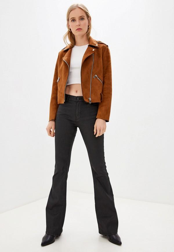 Фото 2 - женские джинсы Mango черного цвета