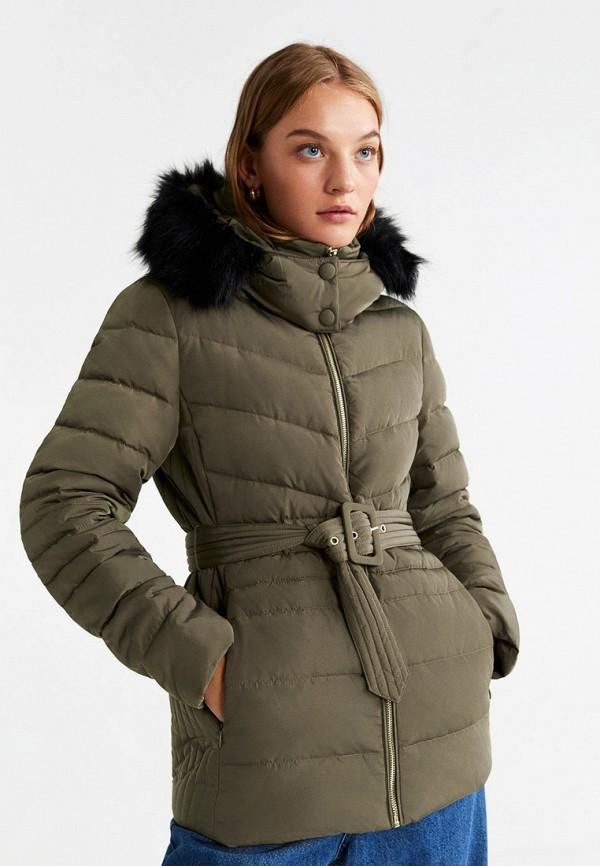 женская куртка mango, хаки