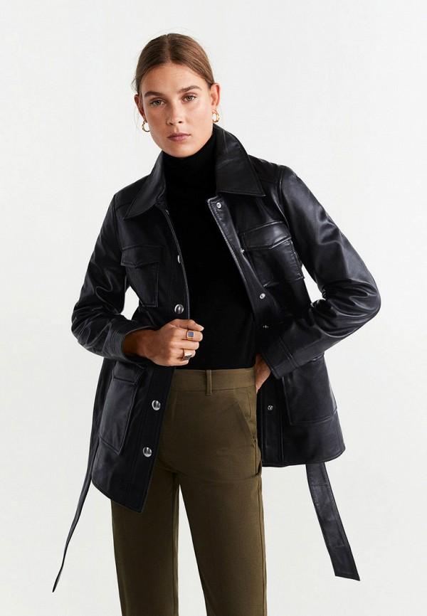 женская куртка mango, черная