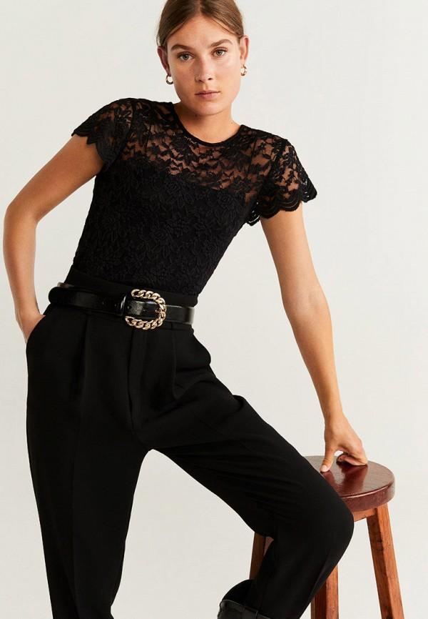 женская блузка mango, черная
