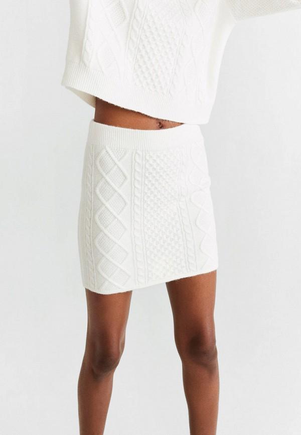 женская зауженные юбка mango, белая