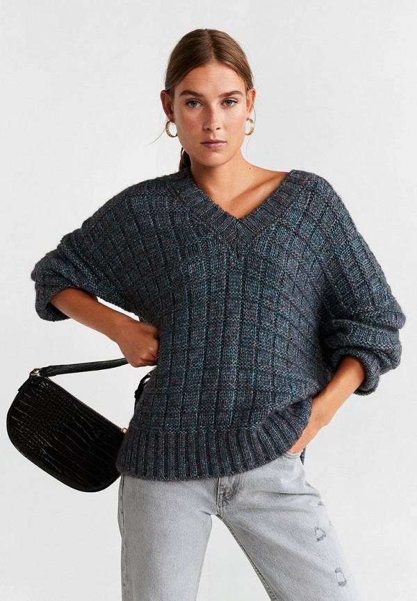 женский пуловер mango, синий