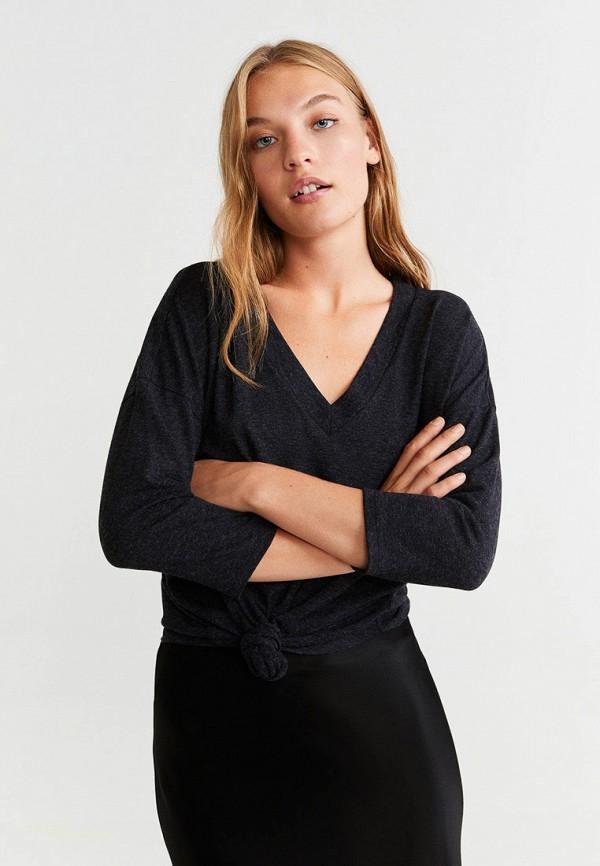 женский пуловер mango, серый