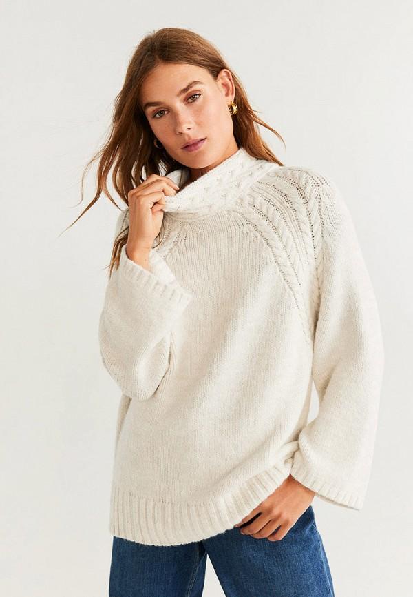 женский свитер mango, бежевый